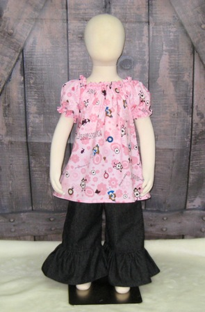 Alice In Wonderland Peasant Top 12M To 7-Alice in wonderland top, girl pink peasant top, pink girl blouse, ruffle top, back to school top, pink girl shirt, little girl blouse, toddler top