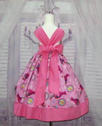 Princess Poppy Dress-poppy dress, girl pink dress, fairy tale dress, back to school dress, trolls dress, polka dots girl dress, hot pink dress, pink dress, summer dress, fall dress, casual dress, OOAK, OOC, pageant casual dress, rainbow dress