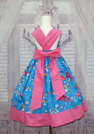 Rainbow Troll Dress-troll dress, princess poppy, poppy dress, girl blue dress, girl pink dress, trolls party, back to school dress, summer dress, fall dress, winter dress, fairy tale dress, cupcakes dress, cup cakes dress, rainbow dress, polka dots girl dress