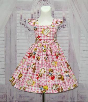 Pink And White Kitty Dress-little girl dress, pink girl dress, back to school, summer dress, sun dress, flutter sleeve dress, fall dress, thanksgiving dress, winter dress, Christmas girl dress, toddler dress, pageant dress, ooc, ooak, tea time dress