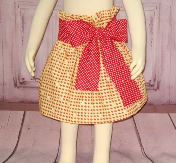 Strawberry Skirt-yellow skirt, ruffle skirt, girl skirt, floral skirt, flower skirt, red and yellow skirt, toddler skirt, infant skirt. school skirt