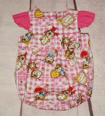 Vintage Style Kitty Baby Romper-baby romper, toddler romper, infant romper, girl romper, baby sun suit, pink romper, red romper, polka dots romper, smash cake outfit, baby first birthday dress, hot pink romper