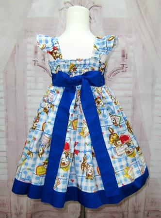 Kitty Cat Blue Bow Dress-cat dress, girl blue dress, kitty dress, blue bow, bow dress, girl fall dress, girl winter dress, girl spring dress, flower girl dress, white and blue dress, red and blue girl dress, animal print dress, smash cake dress, girl church dress