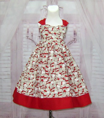 Little Lamb Red Dress-little lamb dress, girl red dress, smash cake dress, infant dress, toddler dress, red and white dress, cream and red dress, red bow dress, summer dress, spring dress, winter girl dress, back to school dress,tea time dress