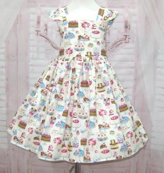 Cupcake Dress-cupcake dress, birthday dress, smash cake dress, tea party dress, girl dress, toddler dress, cake dress, spring dress, summer dress, back to school dress, little girl dress, ivory dress, cream dress, girl pageant dress