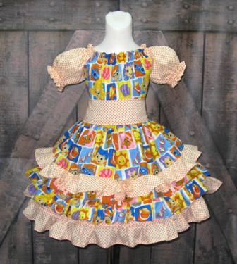 Bubble Guppies Ruffle Dress-Bubble guppies dress, ruffle dress, party dress, tea party dress, girls dresses, orange ruffle dress, back to school dress, toddler dress, girl dress, twirl dress, twirly skirt dress