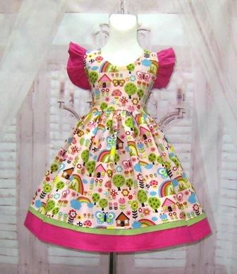 Butterfly Girl Dress-girl pink dress, butterflies girl dress, hot pink girl dress, Easter girl dress, flower gi8rl pink dress, tea party dress, girl pageant dress, ooc girl dress, church girl dress, back to school girl dress, girl birthday dress, smash cake dress