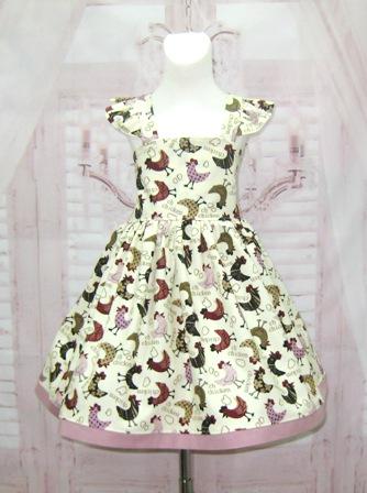 Chickens Dress-girl chickens dress, girl ivory dress, girl cream dress, farm girl dress, country style girl dress, OOC girl dress, Easter girl dress, spring girl dress, toddler cream dress, back to school dress