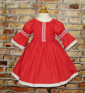 Polka Dots Girl Red Dress-girl red dress, peasant dress, red polka dots girl dress, little girl dress, summer girl dress, fall girl dress, winter girl dress, spring dress, vintage style girl dress, lace dress. girl red dress, toddler dress, infant dress, birthday dress, tea party dress