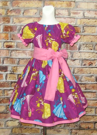 Princess Purple Peasant Dress-princess dress, Cinderella dress, aurora dress, bell dress, summer girl dress, Easter girl dress, pageant girl dress, pink girl dress, lilac girl dress, spring dress, back to school dress, party dress, birthday dress