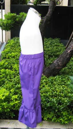 Purple Ruffle Pant-Custom made girl ruffle pant, handmade girl pant, purple pant, dark purple ruffle pant, lavender pant, summer pant, girl Capri, back to school pant, make to order clothes