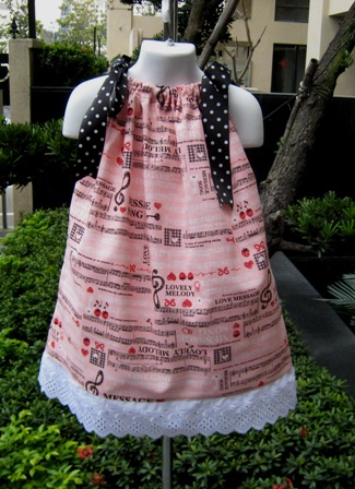 Musical Note Pillowcase Dress-summer dress,halter dress Disney vacation,pink dress,red dress,black dress,summer dress.Easter dress,spring dress,pageant