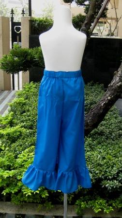 Blue Ruffle Girl Pant-Royal blue ruffle pant, girl blue pant, summer pant, winter girl pant, spring girl pant, fall ruffle pant, back to school pant, birthday girl pant, blue pant, dark blue girl ruffle pant