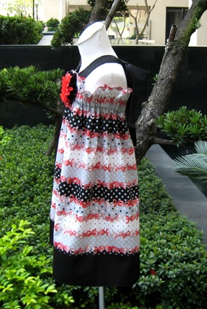 Red Bows And Polka Dots Halter Dress-halter dress,summer dress,back to school outfit,tunic,bow,Christmas dress,flower dress,Easter dress
