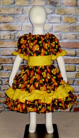 Autumn Inspiration Triple Ruffle Dress Triple Ruffle Peasant Dress-handmade,dress,peasant tops,ruffles pant,pageant dress,supplies,commercial,sewing,fabric,pattern,children custom,dress,pants,applique,vintage,tutorial knitting,neddles,owls,apanese,kawaii,fabric,cotton fabric,cotton,ribbon,bows,hair clips,hair accessories,toddles,baby shower,girl,summer,tunic,wallet,purse,buttons,thread,international shipping,free shipping,flat rate