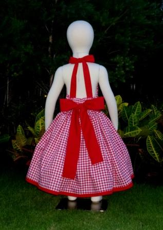 Red gingham halter dress.-halter dress,twirly,red,white,summer dress,disney dress, ruffle dress,retro,skirt,oook,ooc,pageant dress,handmade,custom orders