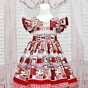 Country Style Red Strawberry Dress