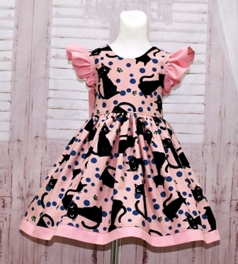 Pink and Black Girl Dress