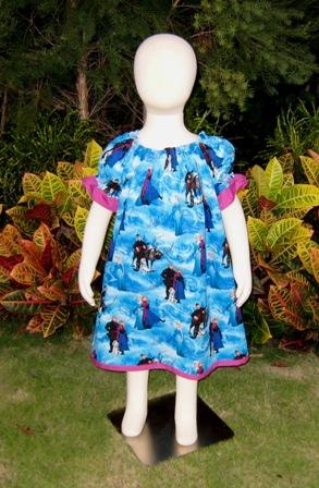 Frozen Peasant Dress-halter dress,twirly,red,white,summer dress,disney dress, ruffle dress,retro,skirt,ooak,ooc,pageant dress,handmade,custom orders,blue,polka dots dress,bow dress,ruffle dress