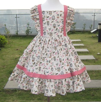 Vintage Style Birdcage Pink Dress