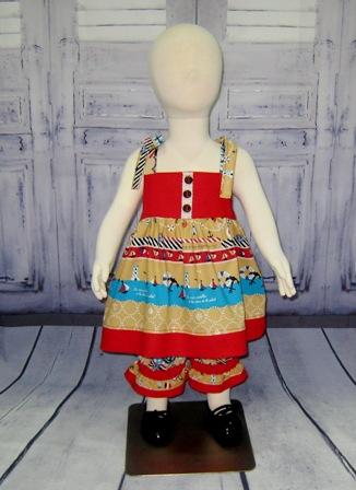 Tunic and Pantaloons Nautical Girl Outfit