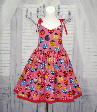 Pink Ladybugs Dress