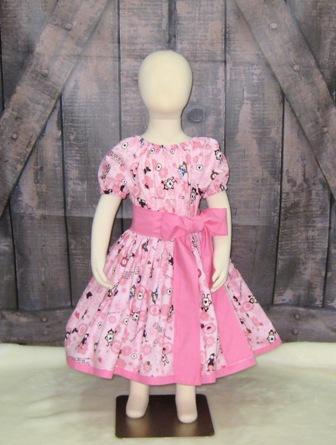 Pink Alice In wonderland Peasant Dress-halter dress,twirly,red,white,summer dress,disney dress, ruffle dress,retro,skirt,ooak,ooc,pageant dress,handmade,custom orders,blue,polka dots dress,bow dress,ruffle dress