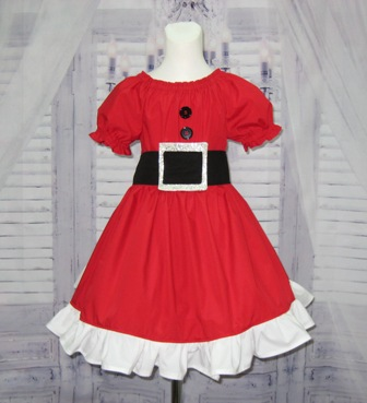 Mrs Claus Inspired Dress
