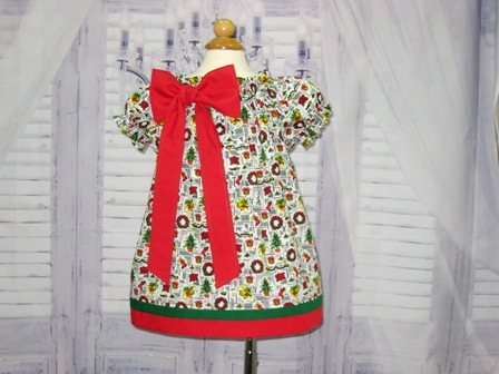 Chirstmas Bow Dress