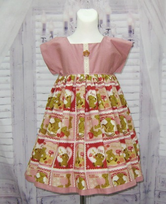 Country Style Teddy Bear Dress