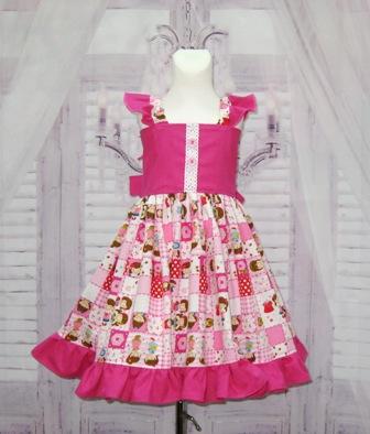 Flutter Sleeve Patchwork Dress