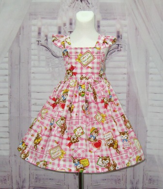 Pink And White Kitty Dress