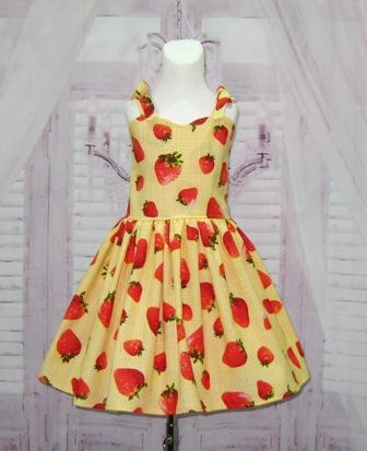 Corset Strawberry Dress
