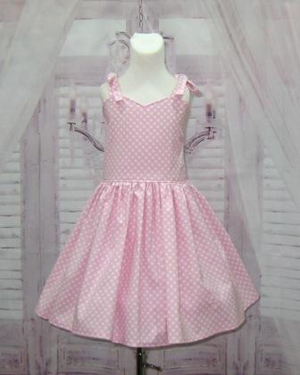 Pink Polka Dots Sweetheart Dress