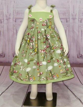 Owls Green Girl Dress