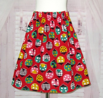 Red Lady Bugs Skirt