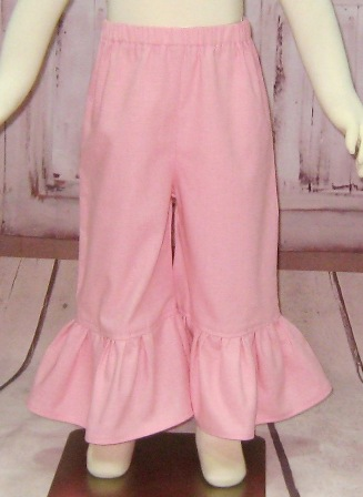 Girl Pink Ruffle Pant