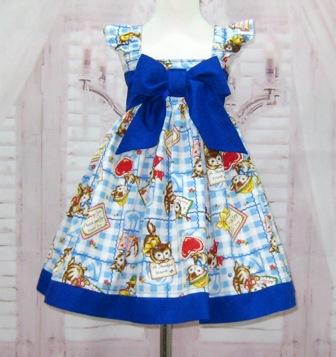 Kitty Cat Blue Bow Dress