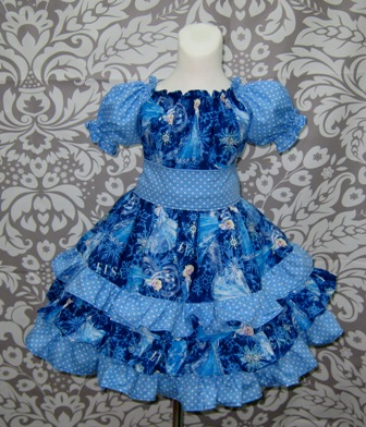 Elsa Ruffle Dress-Elsa dress, frozen dress, Anna dress, Olaf dress, back to school dress, girls dresses, girl dress, church dress, nie nie skirt, twirly skirt, twirl dress, toddler dress, birthday dress