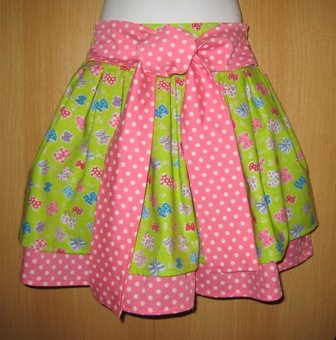 BOUTIQUE STYLE OOAK BOWS AND POLKA DOTS DOUBLE LAYER SKIRT