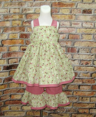 Pink and Green Sunbonnet Outfit