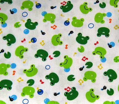 FROGGY FROG JAPANESE COTTON FABRIC-supplies,comercial,sewing,fabric,pattern,handmade,chlindren custom,dress,pants,applique,vintage,tutorial knitting,neddles,owls,japanese,kawaii,fabric,cotton fabric,cotton,ribbon,bows,hair clips,hair accessories,toddles,baby shower,girl,summer,tunic,wallet,purse,buttons,thread,international shipping,free shipping,flat rate