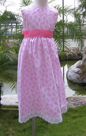 PINK RIBBON BREAST CANCER AWARENESS DRESS