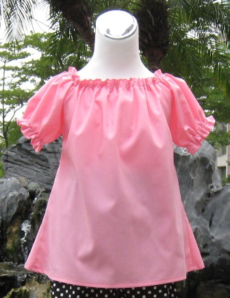 CUSTOM BOUTIQUE PINK PEASANT TOP 12M TO 7