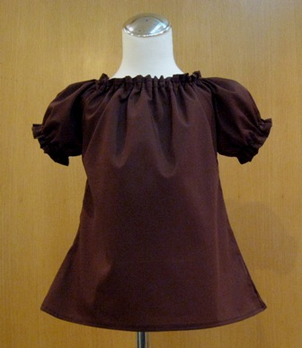 CUSTOM BOUTIQUE BROWN PEASANT TOP 12M TO 7