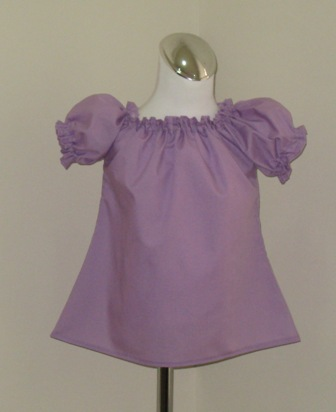 CUSTOM BOUTIQUE LILAC PEASANT TOP 12M TO 7