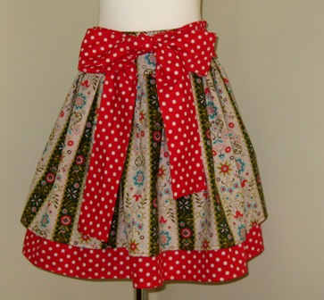 OOAK BOWS AND POLKA DOTS ROMANTIC DOUBLE LAYER SKIRT