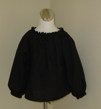 CUSTOM BOUTIQUE BLACK LONG SLEEVE PEASANT TOP 12M TO 7
