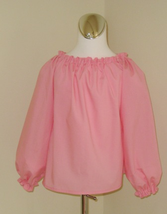 CUSTOM BOUTIQUE PINK LONG SLEEVE PEASANT TOP 12M TO 7   FRANCISBEL