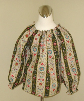 CUSTOM BOUTIQUE FLORAL LONG SLEEVE PEASANT TOP 12M TO7